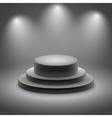 Black empty illuminated podium vector image vector image