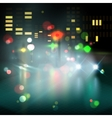 blured lighhts in city night vector image