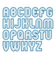 bold capital alphabet letters collection made vector image vector image