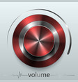 button volume vector image vector image