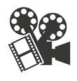 camera video with cinema icon vector image vector image