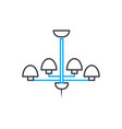 chandelier linear icon concept chandelier line vector image