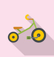 children tricycle icon flat style vector image