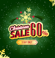 Christmas Sale 60 Percent typographic background vector image vector image