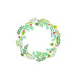 Christmas wreath greetings card