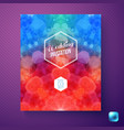 colorful wedding invitation with hexagons vector image vector image