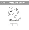 coloring page for kids dog vector image vector image