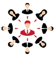 concept of leadership community business people vector image vector image