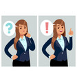 confused woman young thinking girl student vector image vector image