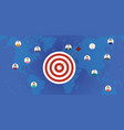 customer target business company target with dart vector image