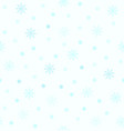 cyan snowflake pattern with dots seamless vector image