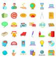 digital development icons set cartoon style vector image vector image