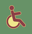 disabled sign cordovan icon vector image vector image