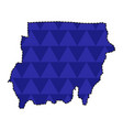 dotted line map of sudan vector image vector image