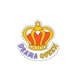 Drama Queen Crown Bright Hipster Sticker vector image vector image