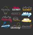 electric logo in flat style vector image vector image