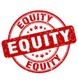 equity red grunge stamp vector image vector image