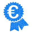 euro warranty seal grunge icon vector image vector image