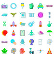 future icons set cartoon style vector image vector image