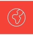 Globe line icon vector image vector image
