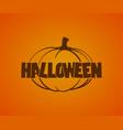 halloween logo with pumpkins vector image
