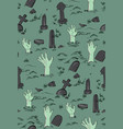 haloween party horror seamless pattern spooky vector image