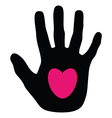 hands love vector image vector image