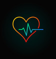 heart pulse colored icon or logo element in vector image
