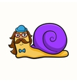 hipster snail vector image