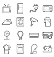 home appliances icon vector image vector image
