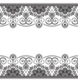 indian mehndi border element with flowers pattern vector image vector image