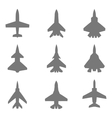 Jet silhouettes set vector image