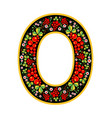 letter o in the russian style the style of vector image vector image