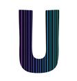 letter U vector image vector image