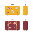 luggage journey and vacation valises set vector image vector image