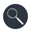 magnifier in circle vector image