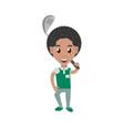 man playing golf cartoon vector image vector image