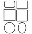 mosaic frames vector image vector image