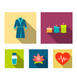 multicolored candles with a flame a blue robe vector image