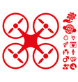 nanocopter icon with dating bonus vector image vector image
