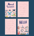 notes or card templates set with science or vector image vector image
