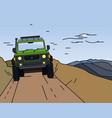 off road landscape poster vector image vector image