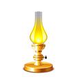 Old kerosene lamp isolated on white vector image vector image