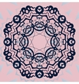 Ornate mandala flower Stylized ornament on pink vector image vector image