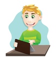 Playing Tablet vector image vector image