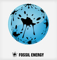 recycle symbol fossil energy vector image vector image