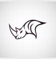 rhino logo icon vector image vector image