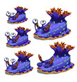 set fantasy animals blue color isolated on vector image vector image