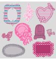 Set of Cute Doodle Frames vector image vector image