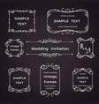 set vintage frames with floral scrolls vector image vector image